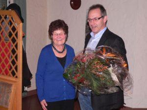 Hilde Kees mit Ortsbürgermeister Brono von Landenberg