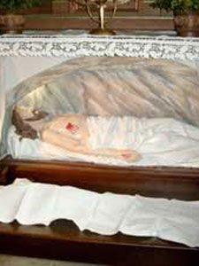 Grabstelle im Josefsaltar